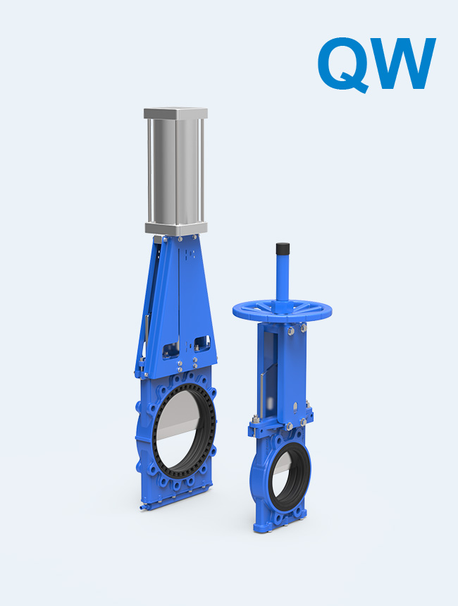 【QW series】</br>  Bi-directional Self-sealing Knife Gate Valve for mud, pulp, tailings, cyclones and so on.